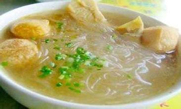 油豆腐線粉湯