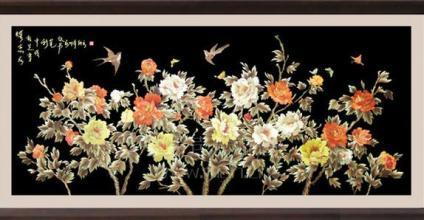 春之声麦秆工艺画