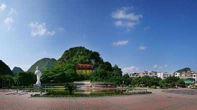 刘三姐音乐喷泉广场